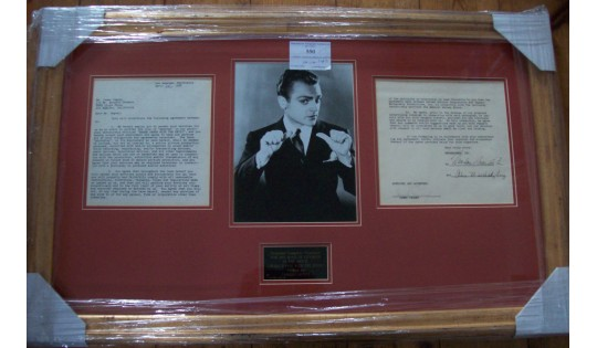 James Cagney Signed & Framed Movie Contract
