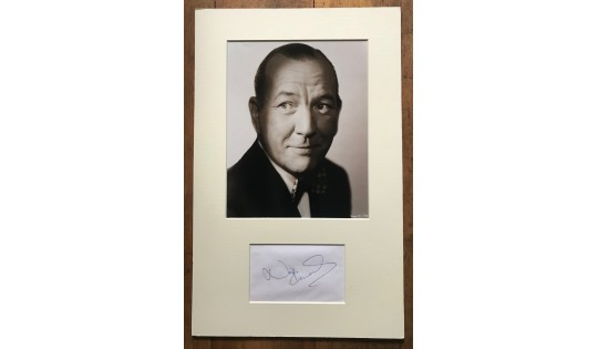 Noel Coward Signature Mounted With Photograph