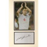 John Terry Signature Mounted With England Photo!