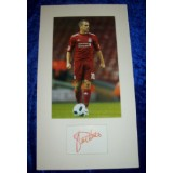 Joe Cole Cut Sig Mounted With 8x11 Liverpool Photograph