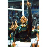 Brian Habana Signed 8x12 South Africa Rugby World Cup Photo!