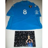 Gattuso Game Worn 2002 World Cup Italy Shirt & Signed Photo!