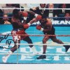 Frank Bruno Signed 8 x 10 Photo In Action Against Mike Tyson