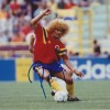 Carlos Valderama Signed 8x10 Columbia Photo