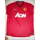 Manchester Utd  Signed 2012/13 League Champions Squad Shirt