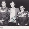 Alain Prost & Eddie Cheever Dual Signed Renault-Elf  1983 F1 Team Photo