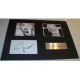 Rita Ora  Signed Index Card & Mounted Photograph Display
