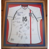 England 2001/03 Squad Signed (Inc Beckham) Framed Shirt