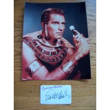 RARE Charlton Heston Genuine Cut Signature (Not Secretarial) With 8 x 10 Photograph