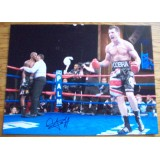 Carl Froch Signed 12x16 vs Jermain Taylor Photograph