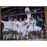 Leeds Utd Signed 1972 FA Cup 12x16 Photograph Signed By 9