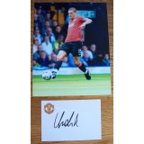 Nemanja Vidic 4x6 Man Utd Signed Card & Photograph
