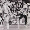 David Gower & Dickie Bird Dual Signed 8x10 Photograph