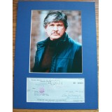 Charles Bronson Signed Cheque Mounted With Photograph