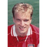 Dennis Bergkamp Signed  3.5x5 Arsenal Photograph