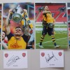 Arsenal Four 2015 FA Cup Winners Signatures &  8x12 Photographs