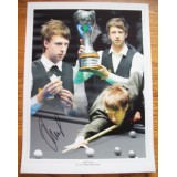 Judd Trump Signed 12x16 Snooker Montage Photograph