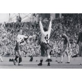 Alan Mullery & Cliff Jones 8x12 Duel Signed Spurs Photograph