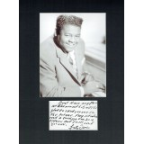 Fats Domino Rare Handwritten Note to Fan 12x16 Mounted With Picture