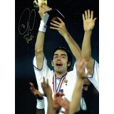 Robert Pires Arsenal Signed 16x12 France 1998 World Cup Photograph