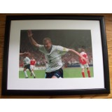 Alan Shearer Signed Framed England Euros 1996 Photograph