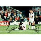 Gareth Southgate & Sol Campbell Dual Signed England 8X12 Photograph