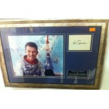 Wally (Walter) Schirra Jr Framed Apollo Space Presentation