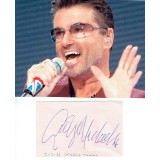 George Michael (1963-2016) Signed Album Page & 6x8 Inch Photograph