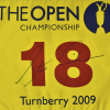 Stewart Cink Signed Turnberry 2009 Open Winner Pin Flag