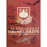 West Ham United Signed By 15 Legends FAREWELL BOLEYN 16x12 Programme Photograph