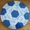 Tottenham Hotspur Signed  1984 UEFA Cup Winners Squad Signed Plaque by 18 Players