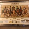Magnificent Seven Signed Huge 36 x 48 Inch Framed Presentation