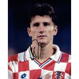 Davor Suker Signed 8x10 Croatia Football Photograph