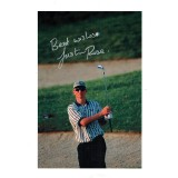 Justin Rose Early Signature from1998 British Open A4 Signed Golf Image