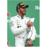 Lewis Hamilton Signed Brasilian GP 8x12 Photograph Current F1 World Champion