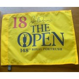 Rory Mcilroy Signed  Royal Portrush 2019  Open Golf Flag (Rare Full Un-Rushed Autograph).