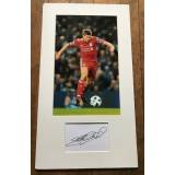 Steven Gerrard Cut Sig Mounted With 7x11 Photograph