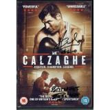 Joe & Enzo Calzaghe Signed DVD Insert of Mr Calzaghe Fighter Champion Legend