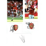 Arsenal Various Signed Items Including William Gallas