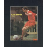 Peter Thompson Signed & Mounted Magazine Page In Action For Liverpool
