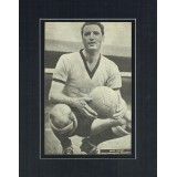 Eddie Stuart Signed & Mounted Newspaper Page In His Kit For Wolverhampton Wanderers