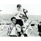 Maurice Norman & Bobby Smith Dual Signed Tottenham Hotspur 1961 FA Cup Final 8x10 Photograph