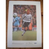 Lee Clarke Signed Large Ltd Edition Fulham Print Exclusive Signing Bid4sport