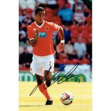 Tom Ince Signed Blackpool 8x12 Photograph