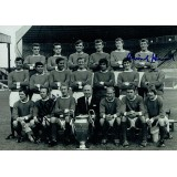 Nobby Stiles & David Herd Dual Signed 1968 Manchester Utd 6x4 Inch Photograph
