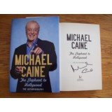 Michael Caine Signed THE ELEPHANT TO HOLLYWOOD Hardback Book
