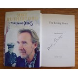 Mike Rutherford GENESIS Signed THE LIVING YEARS Hardback Book