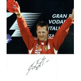 Michael Schumacher Signed White Card & 10x8 Photograph