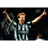 John Beresford Newcastle Signed 12 x 8 inch Football Photograph