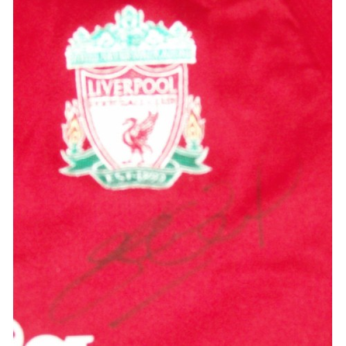 Steven Gerrard Signed Liverpool Home Shirt